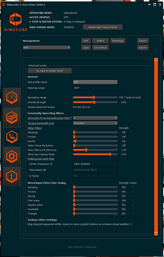 iRacing TrueDrive Profile