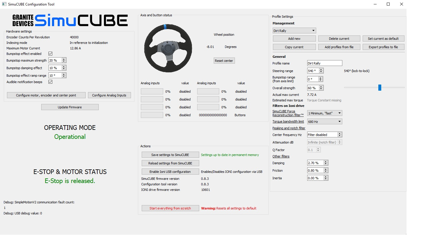 Simucube settings for Dirt rally - Games - Granite Devices