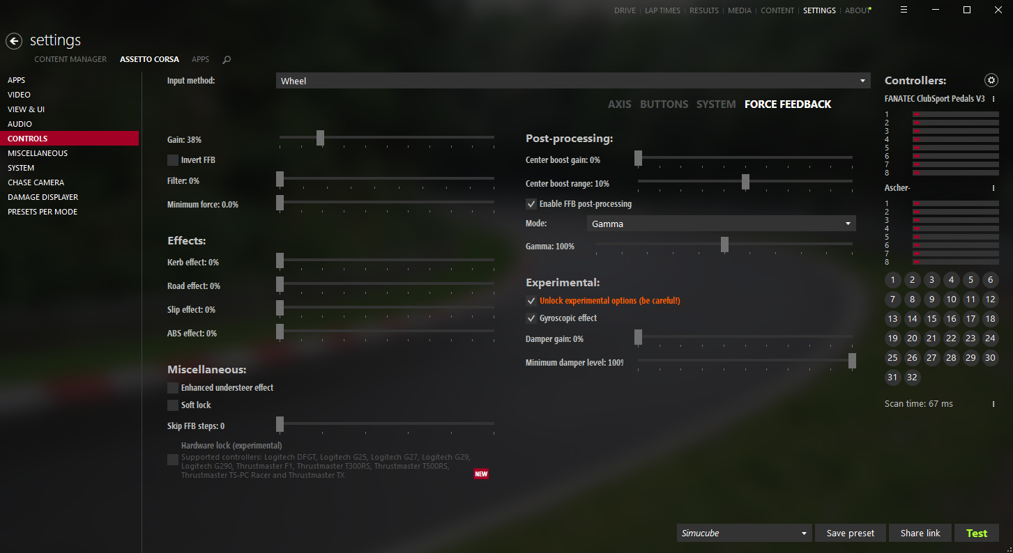 Assetto Corsa and SimuCUBE - Games - Granite Devices Community
